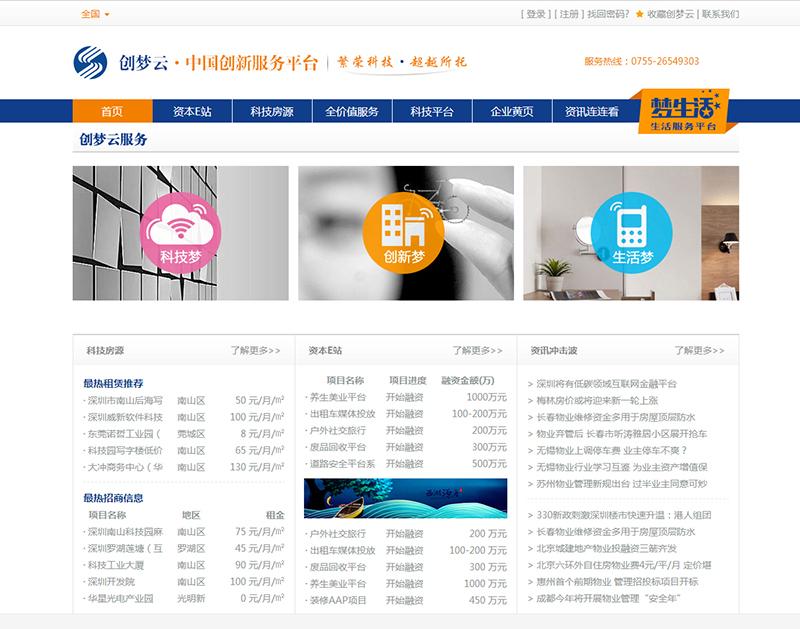 某中国创新服务平台二期项目--全国及13个城市房源信息、资讯管理