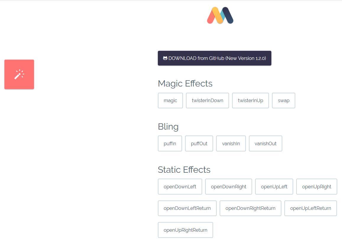 Magic CSS3 Animations 动画是一款独特的CSS3动画特效包